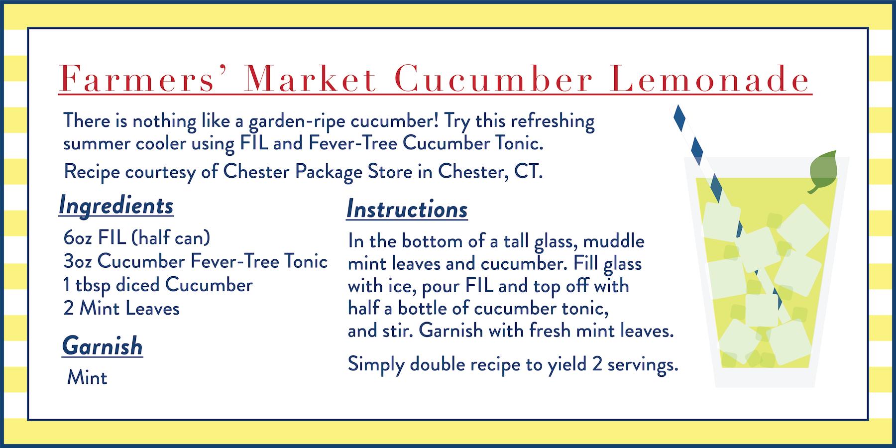 farmers market cucumber lemonade recipe