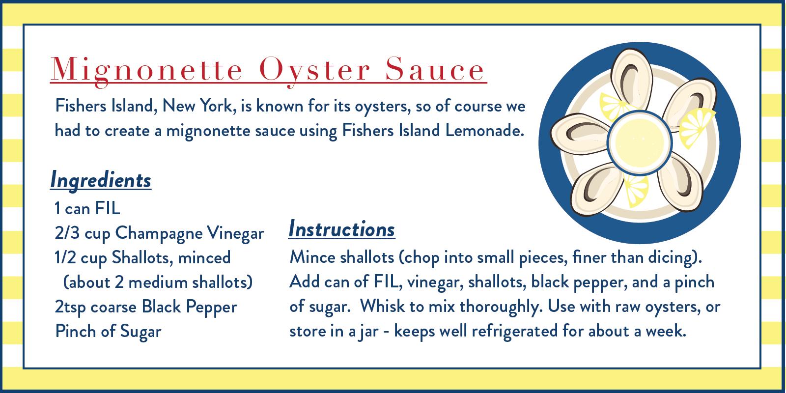 mignonette oyster sauce recipe